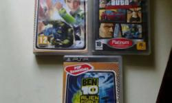 Three Sony PSP Game Cases