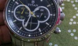 Tiatan Round dial chronogarph watch absolutely spotfree