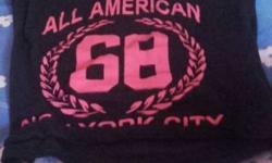 Toddler's Black And Pink All American 68 Crewneck Shirt