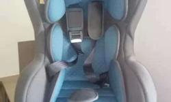Toddler's Blue And Grey Car Seat