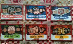Top collection of slam attack 6 unique belts 4 tag team