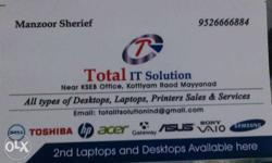 All Types Of Desktops, Laptop, Printers Sales And