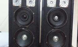 "Tower speaker box 4 way rs. 1600 one 8"" woofer oneb 8"""