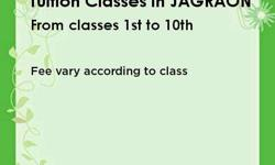 Tuition classes in JAGRAON. from class 1st to 10th Here