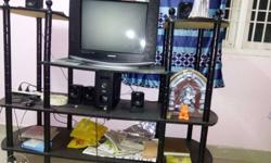 TV Stand for sale two base wheels are damaged,