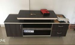 Rectangular Black And White Wooden TV Stand
