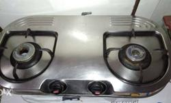 Stainless Steel prestige Two-burner Gas Stove used