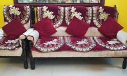 Two 3 seater + two 1 seater sofa sets made of strong