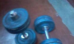 Two Black Dumbbells