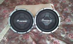 Two Black Pioneer Subwoofers Old sub woofer Brand new