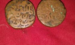 Two Brown Wooden Ornaments