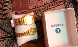 Two Gold Lordson Analog Watches With Box