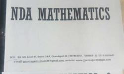 NDA preparation books Maths volume 1 and 2. And