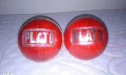 Two Red Plato Croquet Balls