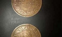 Two Round Bronze Coins 1938 old coins