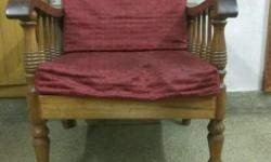 Two single seater with one 3 seater teak wood sofa with