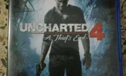 uncharted 4 ps4 game only 1 week old no scratch .