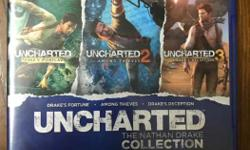 Uncharted collection 1, 2 & 3 in mint condtion