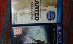 Uncharted collection and shadow of mordor.awesome