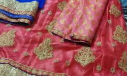 Unstitched lehenga free size, brocket top, netted