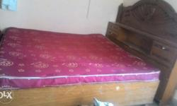 Large size unused double cot with bed, dinning table