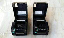 Urgent sale barcode printers 2 nos. TSC made. Very less
