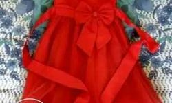 Urgent to sell. Girl's Red Sleeveless Dress for party .