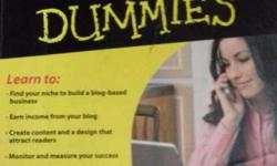 Used book on Professional Blogging for Dummies written