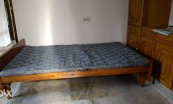 Used cot (with teak and plywood) and bed 4 feet x 61/4