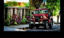 Mahindra Jeep Classic, 1996, Dark Red,82500 Kms This