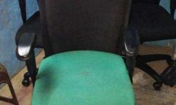 used office revolving chairs in good condition eight
