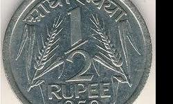 VERY-VERY RARE 1954 - 1/2 (Half) RUPEE COINS FOR SALE