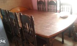 Very good condition six chairs and a table teek wood