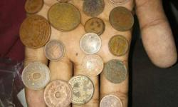 very old kutch and indian coins.