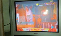 A 29 inch colour tv of video Tex television of silver