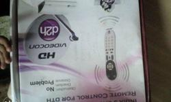 Videocon D2h hd setup box with remote cabal wire and