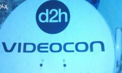 Videocon d2h in good condition with 15-18 mtrs of
