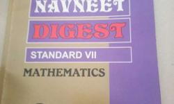 Violet And Gray Navneet Digest Standard 7 Mathematics