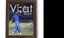Virat Kohli Digital Signed 6x8 Poster Framed Design 3