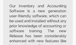 We provide accounting software which is gst ready. very