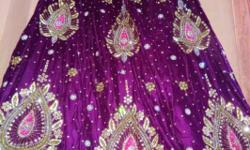 This is a beautiful wedding lehnga (with fully