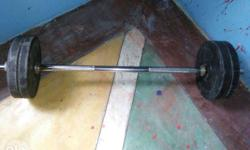 weight lifting rod and plates for sale