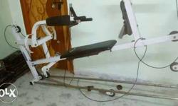 White And Black Gym Equipment