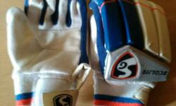 White And Blue Hockey Gloves