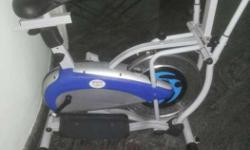 White And Blue Elliptical Trainer