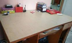 White And Brown Wooden Rectangular table
