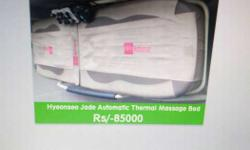 White And Gray Automatic Thermal Massage Bed helps in