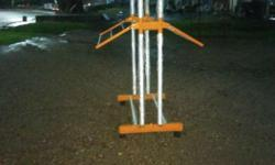 White And Orange Metal Rack