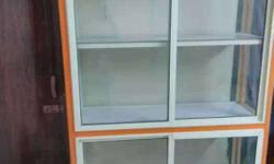 White And Orange Wooden Cabinet