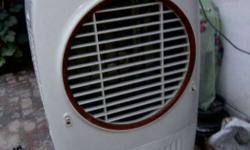 White And Red Portable Air Cooler
